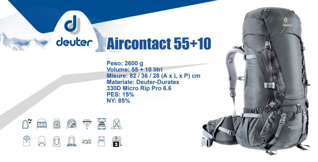 Deuter Aircontact 55+10