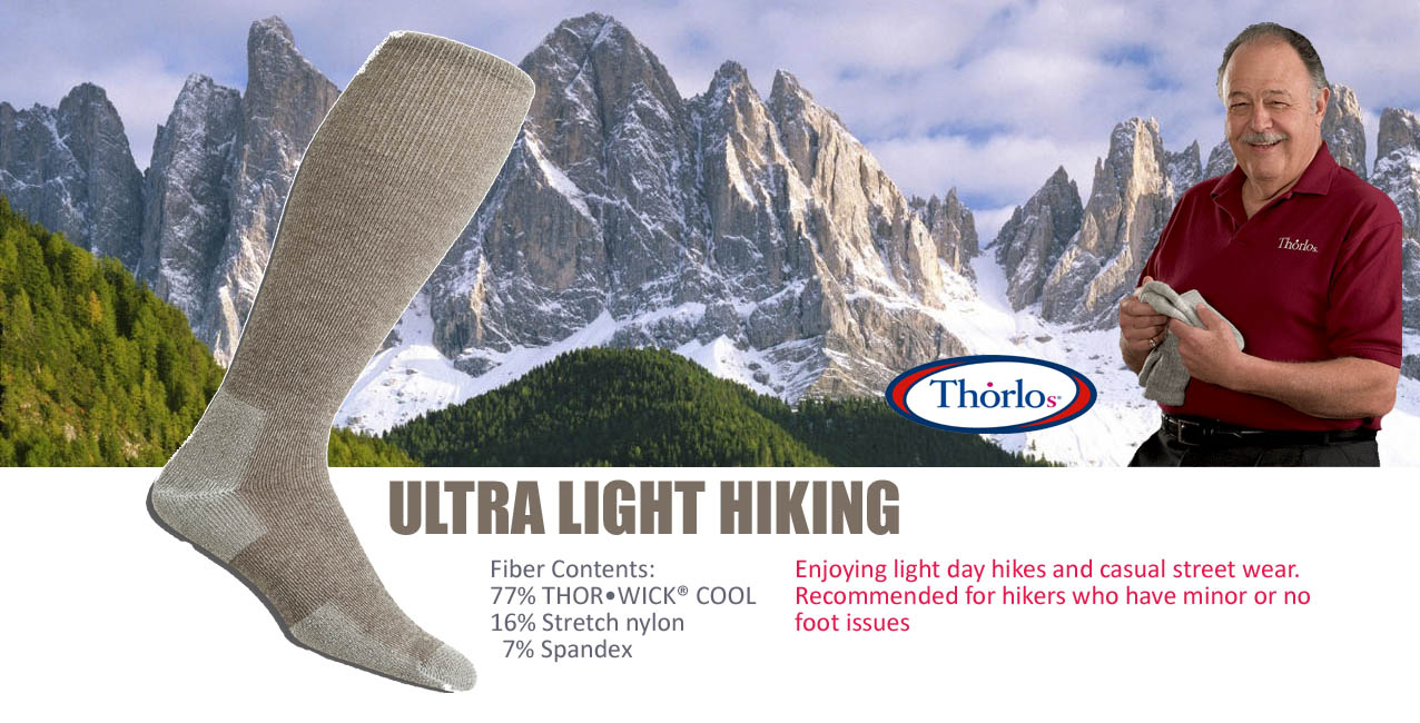 Thorlo's LTHO Ultra Light Hiking